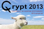 QCRYPT 2013 logo and poster lamb