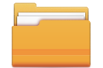 Orange folder icon with documents