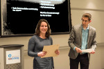 Elena Bakos Lang Receiving Award from Douglas Stebila
